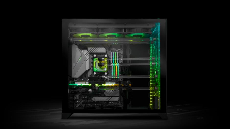 HARNESS THE POWER OF NVIDIA RTX 3000 WITH FULLY LIQUID-COOLED EK FLUID GAMING PCs